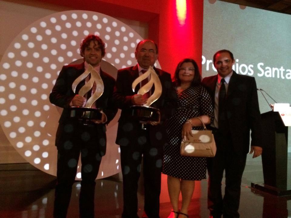 Comitiva da Ufersa durante a cerimônia de anúncio dos vencedores do Prêmio Santander Universidades 2014, em São Paulo   Crédito: Cedida