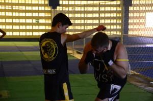 Lutador Cláudio Hércules durante treinamento no Ginásio da Ufersa em Mossoró / Foto Assecom