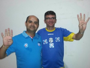 Professores Araken e Joselito, novo diretor e vice da Ufersa Angicos / Foto cedida