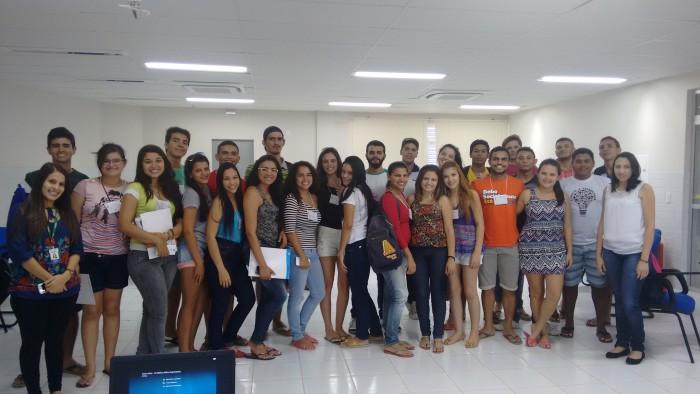 Estudantes participando da Semana de Acolhimento em Caraúbas / Foto cedida