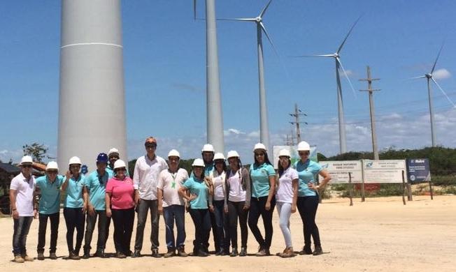 Parque eólico em Aracati (CE) com os estudantes da Ufersa Angicos / Foto cedida